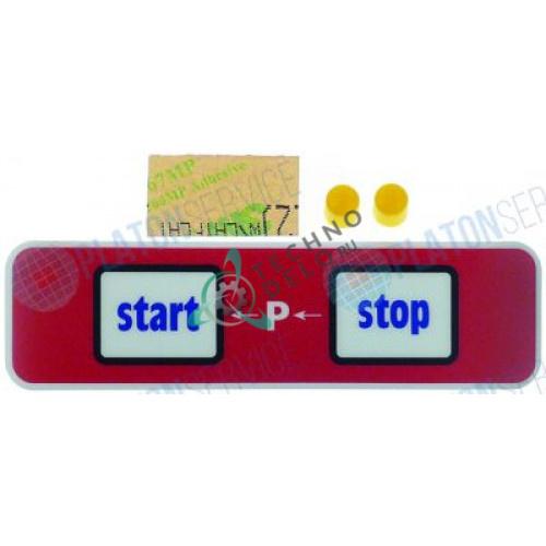 Стикер 6009103 107x30мм обозначения кнопок панели управления пароконвектомата Convotherm