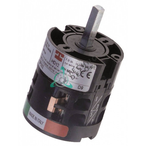 Переключатель Tecnomatic 13F032 0-1-2-3 600В 12А ось 6x6x23мм 103590 для Krupps Koral 1200-1600 и др.