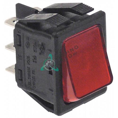 Кнопка вкл-выкл 30x22мм красный 2CO 250В 16А
