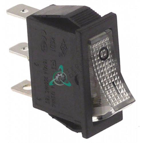 Выключатель балансирный белый монтаж 30x11 мм 1NO/250В/16А с подсветкой