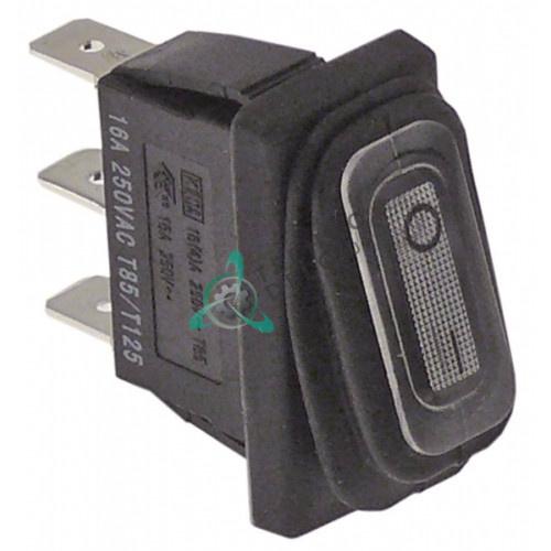 Выключатель балансирный черный монтаж 30x11мм с сильфоном (1NO 230В 16А)