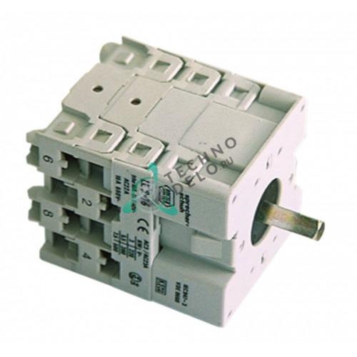 Переключатель Breter 16A ось 5x5 мм 4277, 7952 для посудомоечной машины ATA AF61, AL30, AL31 и др.