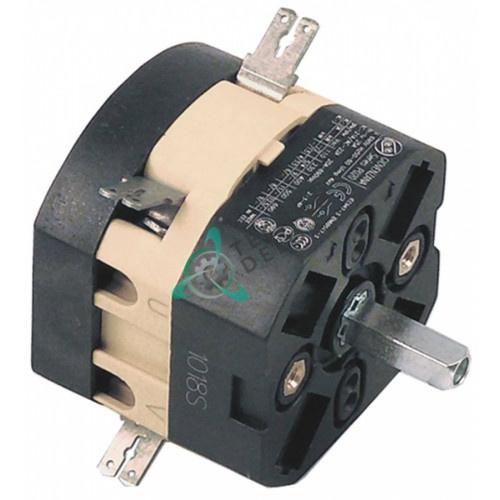 Выключатель Giovenzana P020 0-1 690В 20А ось 5x5мм посудомоечной машины Cimsa-Fabar и др. (арт. 13186)
