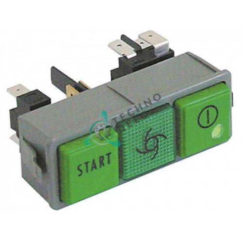 Комплект кнопок Пуск/лампа /ВклВыкл 0015891 для Dihr, Kromo и др.