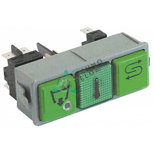 Комплект кнопок спуск/температура/повтор 230В 0015892 для Dihr, Kromo и др.