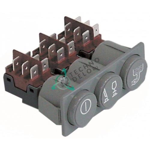 Комплект кнопок 28160029 28160033 250В для посудомоечной машины Elframo, Komel и др.