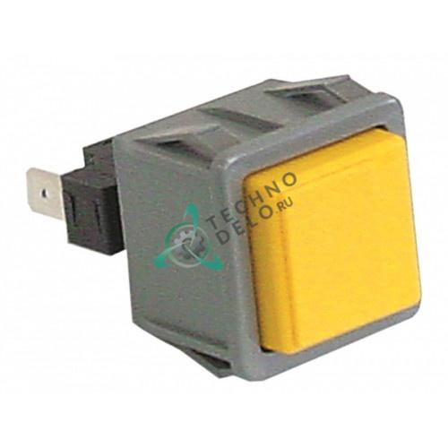 Кнопка желтая 1NO 250В 16А 15859 для Dihr, Kromo, Mach и др.