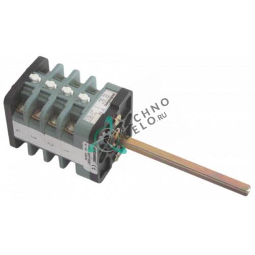 Выключатель Entrelec 0-1 400В 16А 8 контактов ось 6x6x80мм для кофемашины CONTI и др.