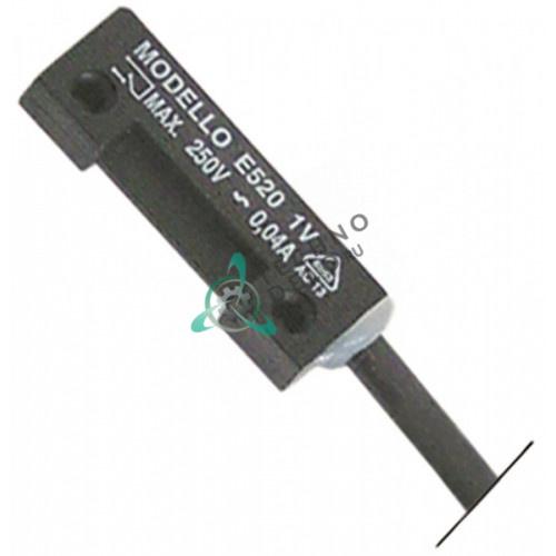 Выключатель концевой 40x13мм 1NO 250В 0.04А 10Вт провод L-650мм BN6A047085 для печи Baron, Metos, Olis