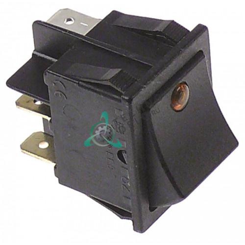 Кнопка пуск 1NO/лампа оранж. 12024213, Z203080 для посудомоечных машин Fagor, Mastro и др.