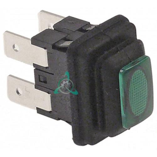 Выключатель кнопочный 19x13 мм, льдогенератора Electrolux, Icematic, Scotsman, Simag и др.