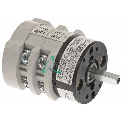 Выключатель Bremas CA0200004V 0-1 400V 20A ось 5x5мм 60900010 для BFC, Elektra, Expobar, Royal и др.