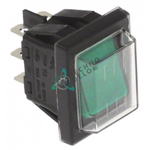 Выключатель балансирный (2CO 250В IP65 зеленая подсв.) 50GI851145 для Grandimpianti, Danube и др.