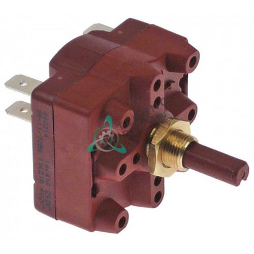 Переключатель Gottak 4RH 0-1-2 400В 16А ось ø6,3x4,7мм для мясорубки Braher P32-P98