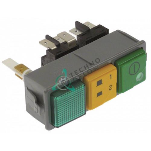 Комплект кнопок 2NO/2CO/лампа 0075090 посудомоечной машины Dihr, Kromo и др.