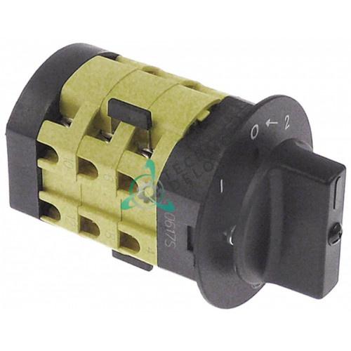 Переключатель Giovenzana PO12 1-0-2 690В 12А ось 8x7x18мм для мясорубки и др.