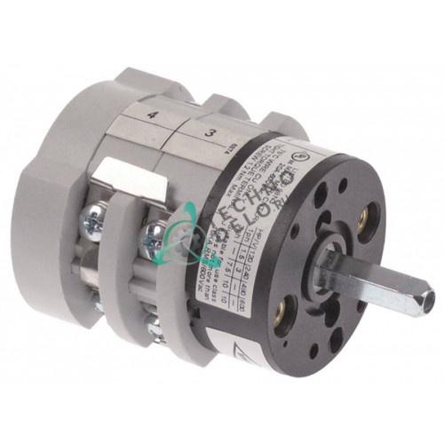 Переключатель Bremas CS0176874 0-1-2-3 400V 16A ось 5x5мм 532005800 для La Cimbali Junior и др.