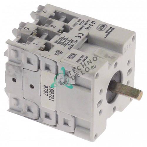 Переключатель Breter LE2-16 0-1-2 (нажим.) 690В 16А ось 5x5мм для ATA