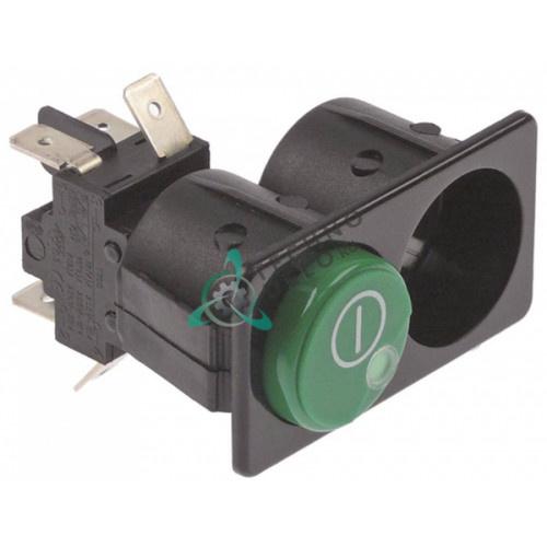 Кнопка зелёная 130495 главный включатель 2CO 250В 16А для Comenda LB275C/LF322C/R321F/RB200/RB200A и др.