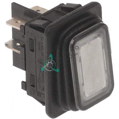 Выключатель с подсветкой (30x22мм 2NO) для Winterhalter GS23, GS23H, GS25, GS27, GS4 и др.