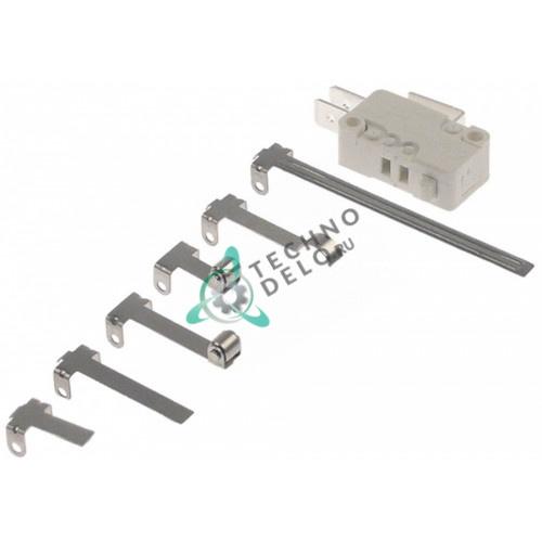 Микровключатель тип MS1-16 с набором рычажков усилие 100 гр (F6.3 250В 16А 1CO)
