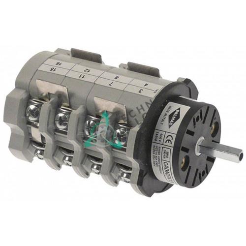 Переключатель Bremas CA0407412V 1-0-2 690V 40A ось 5x5мм для Astoria, Wega и др.