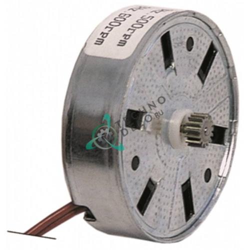 Микромотор программатора Fiber M51B20L0000 / M51B20L6400 24VAC D-50x15мм шестеренка ø6,6мм