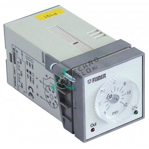 Реле времени Fiber E58F47 диапазон 0-12 мин. 230VAC 5А 45x45мм 12017722 для Fagor HCG-10-11, HCG-10-21 и др.