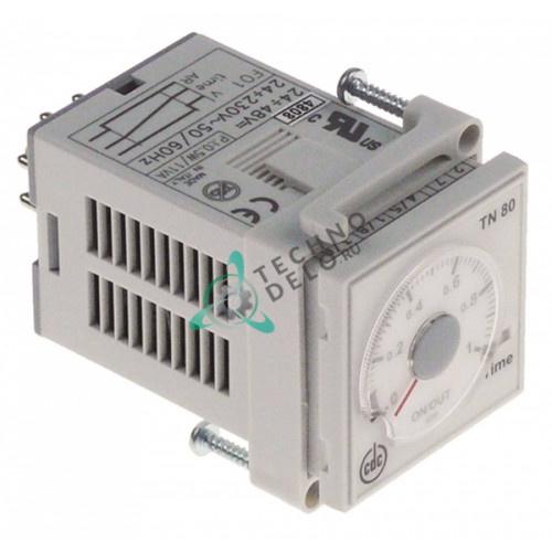 Реле времени CDC TN 80 диапазон 3 секунды - 60 минут 24-230VAC/24-48VDC 6A 1CO 531202308 для кофемолки Faema MPN