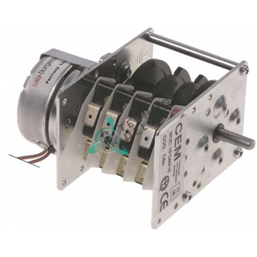 Таймер-программатор CEM HFD4M16 4 камеры время работы 120 секунд ось 6x4,6мм UDS11NE1RHZ235 10-18A для EKU и др.