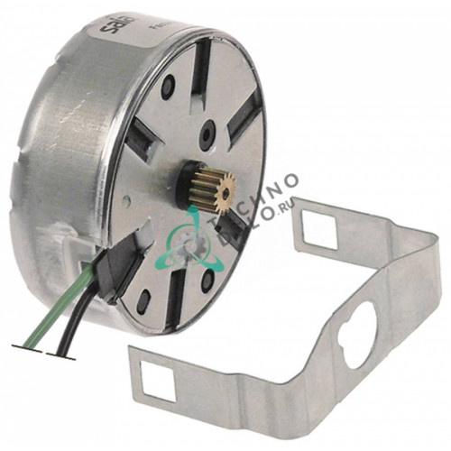 Микромотор программатора Saia UDS40NE1RNZ165 24VAC D-48мм/18,5мм шестеренка ø6,8мм