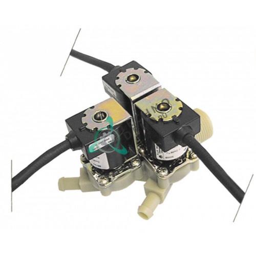 Клапан электромагнитный Muller 090000 тройной 230VAC 3/4 d12.5мм 30020328 печи Krefft, Rational и др.