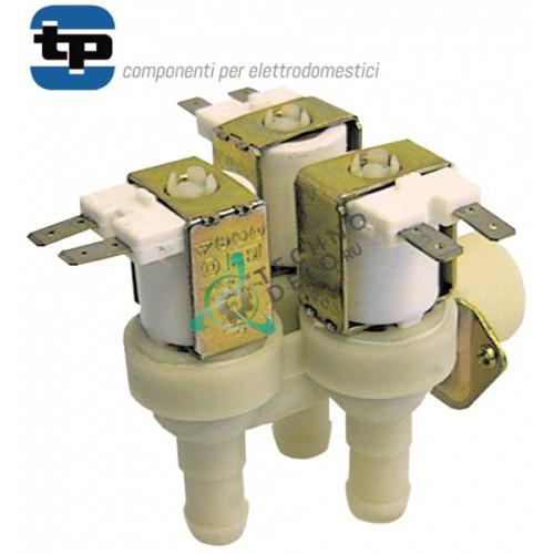 Клапан электромагнитный тройной TP 230VAC вход 3/4 выход d14мм 634089 для Bonnet, Thirode и др.