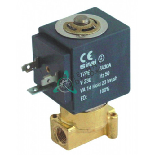 Клапан электромагнитный Sirai L120-Vo2 L32мм 1/8 катушка ZA10AFL 24VAC (переменный ток)