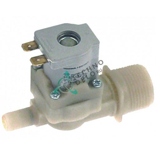 Клапан электромагнитный одинарный 230VAC d10.5мм 3/4 201160 для печи MKN CGE11-L/CGE12-L и др.