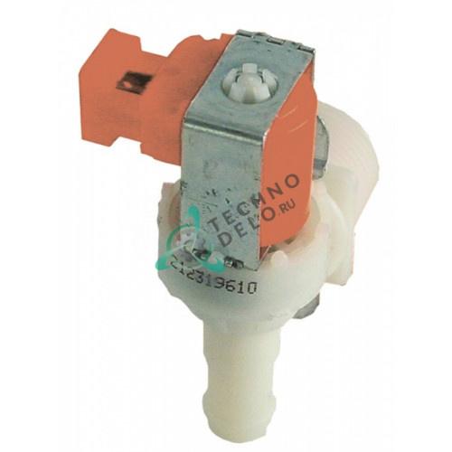 Клапан электромагнитный одинарный Elbi 230VAC 3/4 d14мм 3,5 л/мин 049334 для Electrolux, Zanussi