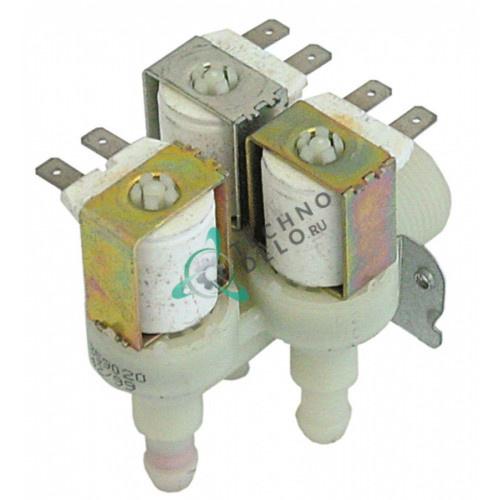 Клапан электромагнитный тройной Elbi 230VAC 3/4 d11.5мм 120179 для Comenda, Zanussi и др.