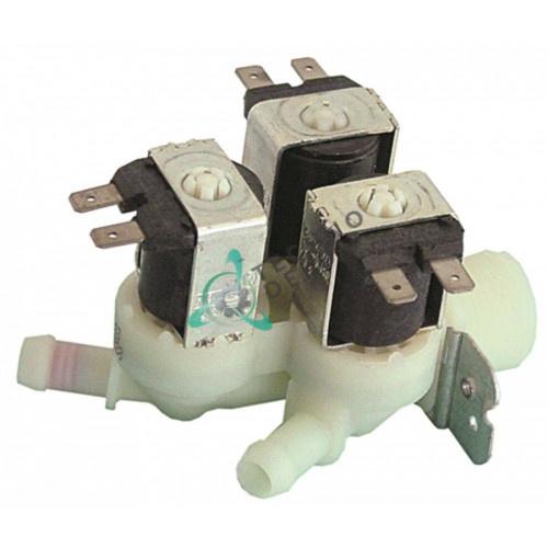 Клапан электромагнитный Elbi 230VAC 3/4 3 выхода d11.5мм 23120003 для Elframo, Komel и др.