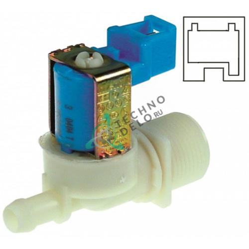 Клапан электромагнитный одинарный Invensys 230VAC 3/4 d11.5мм 0C3254 печи Electrolux, Fagor и др.