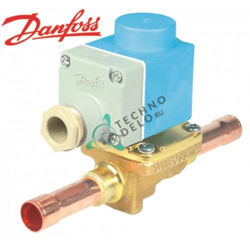Клапан электромагнитный Danfoss EVR 15 NC d16мм 230В -40° до 105 °C для хладагента