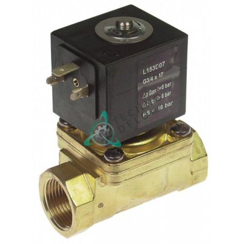 Клапан электромагнитный Sirai L153-D 3/4 L79мм Z134A 24VAC 120107 для Comenda, Electrolux и др.