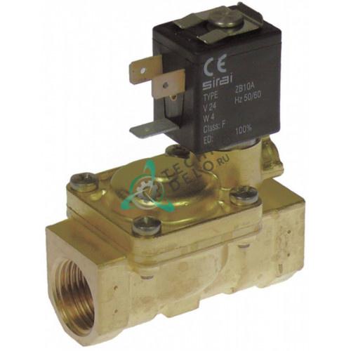 Клапан электромагнитный Sirai L180-B 1/2 L66мм Z610A 24VAC 120131 для Comenda, Electrolux и др.