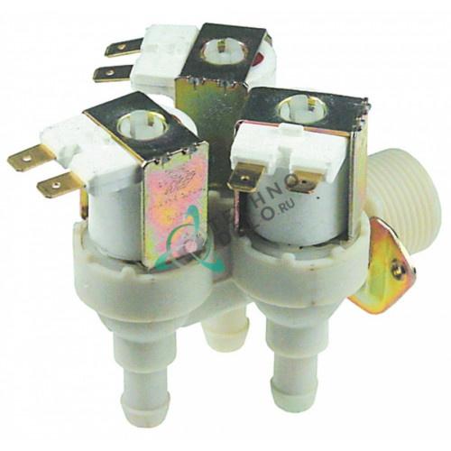 Клапан электромагнитный тройной TP 22507P 230VAC 3/4 d11.5мм 002712 для Electrolux, Zanussi и др.