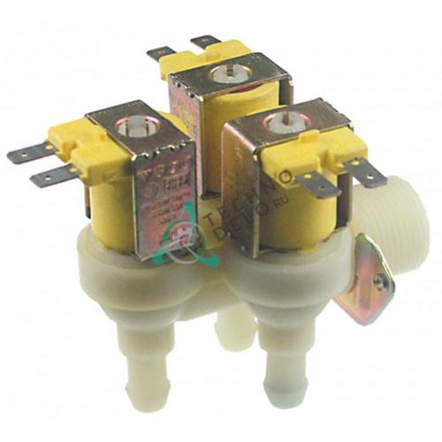 Клапан электромагнитный тройной Elbi 24V 3/4 d11.5мм 0A2415 60050239 для печи Electrolux, Zanussi