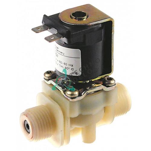 Клапан электромагнитный Muller 1/2 L70мм 1,9л/мин 230VAC для Kuppersbusch и др.