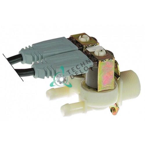 Клапан электромагнитный двойной Invensys 230VAC 3/4 d11.5мм 30020304 печи Kuppersbusch, Rational и др.