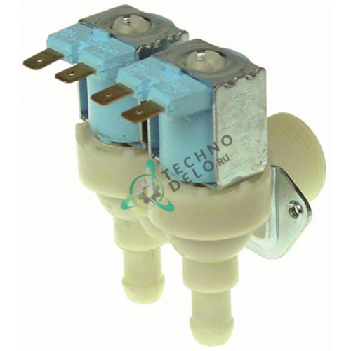 Клапан электромагнитный TP двойной 0.8 л/мин 23116 льдогенератора Brema, Electrolux, NTF, Fagor и др.