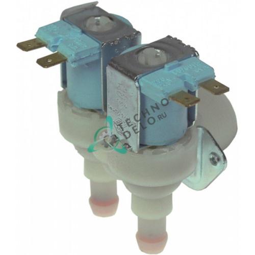 Клапан электромагнитный TP двойной N23116 N23498 льдогенератора Brema, Electrolux, NTF, Fagor и др.