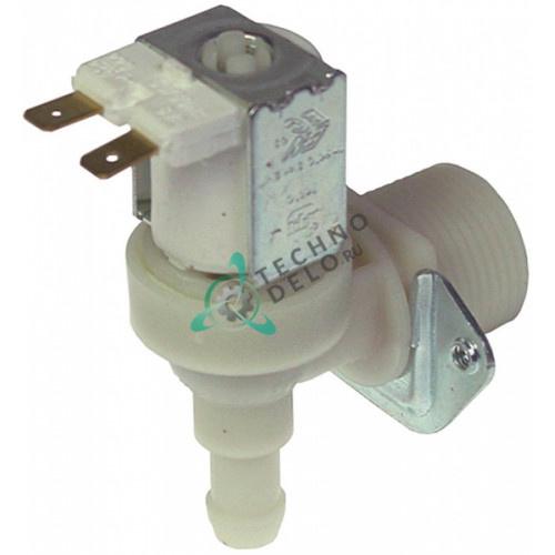Клапан электромагнитный одинарный TP 230VAC 3/4 d11.5мм 3 л/мин для Brema, Electrolux, NTF и др.