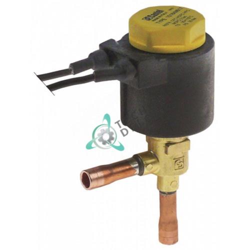Клапан электромагнитный Castel угловой 1018/M617A6 230V 35 бар 6мм -35 до 110°C RF000532 для Brice Italia, EurFrigor и др.